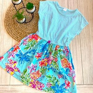 Gymboree girls summer dress size medium 7/8 EUC